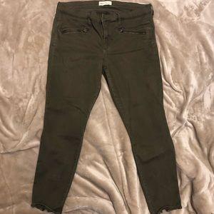 Cute Army Green Gap Zipper Pants 👖💚